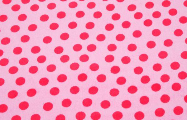 Stoff mit roten Punkten
