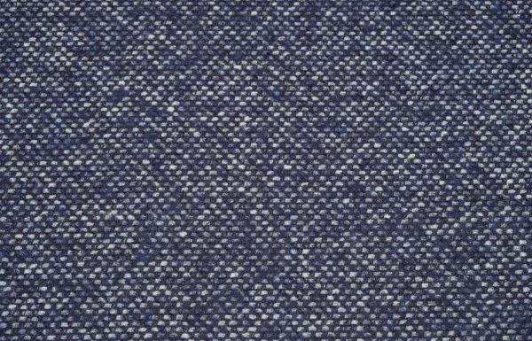Tweed Stoff, blau und weiss