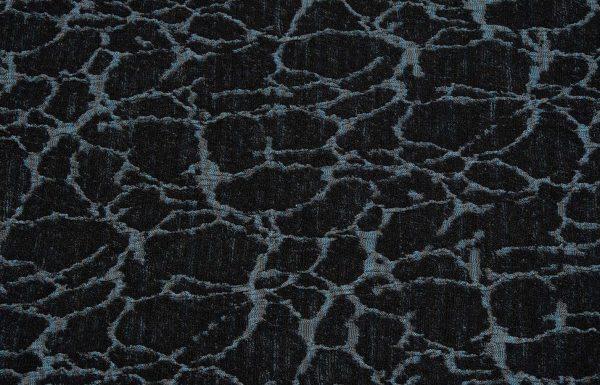 Abstrakter Stoff, hellblau und schwarz