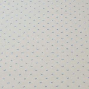 Baumwollstoff mit Punkten in blau und weiss