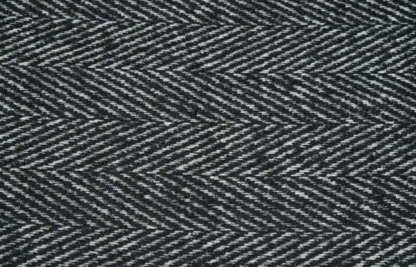 Fischgrat Stoff in schwarz und weiss