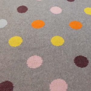 Jacquard-Punkte-farbig-hellgrau