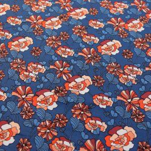 Jersey-floral-königsblau-orange-rot
