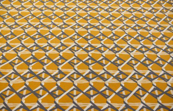 Jersey-geometrisch-senf-weiss