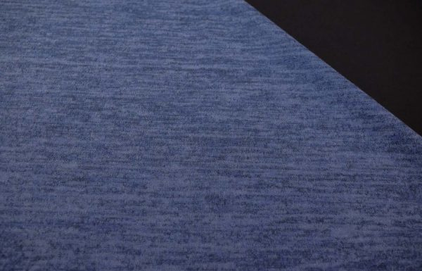 Strick-melange-blau-schwarz